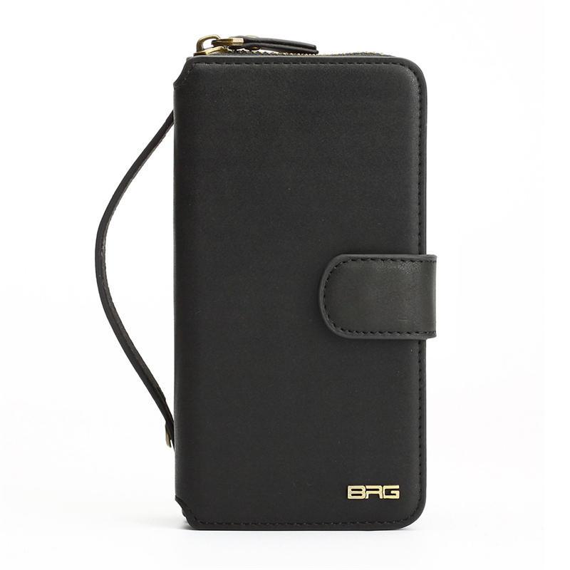 Wielofunkcyjny portfel skórzany case do samsung s4 s5 s6 s7 edge S8 NOTE4 NOTE5 Zipper Torebka Pouch Sprawach Telefonów Lady Torebka Okładka 11