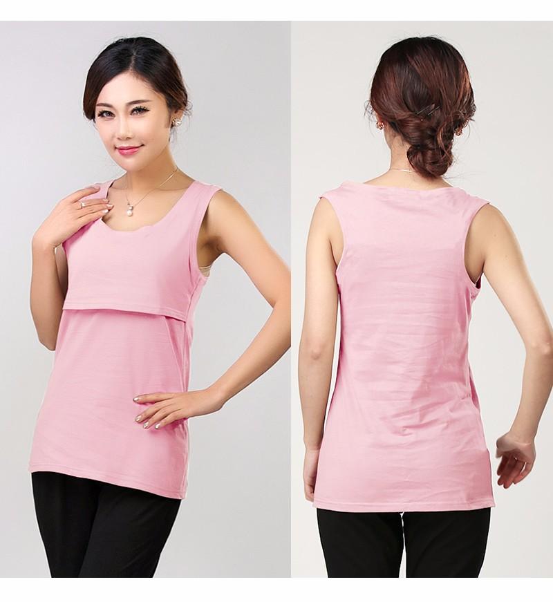 2016 Lato Bawełna Nursing Tank Karmienie Karmienie Piersią Bluzki Ubrania Macierzyństwa Kobiety W Ciąży Moda Matki T-shirt Plus Size 14