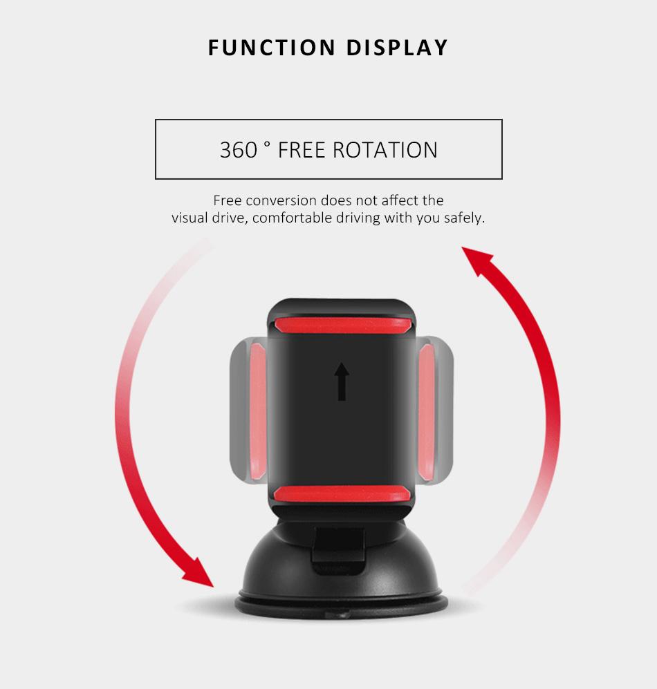 ESVNE Uniwersalny Telefon Samochodowy uchwyt szyby zamontować uchwyt na telefon komórkowy stojak uchwyt Samochodowy uchwyt na telefon Komórkowy Smartfon Telefon 7