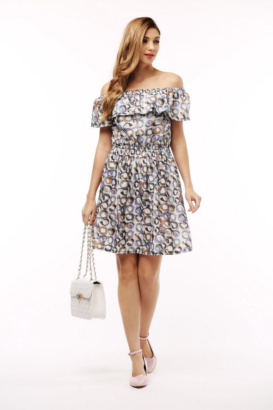 2017 fashion nowa wiosna lato plus size odzież kobiet floral print wzór sukienki na co dzień vestidos wc0472 9