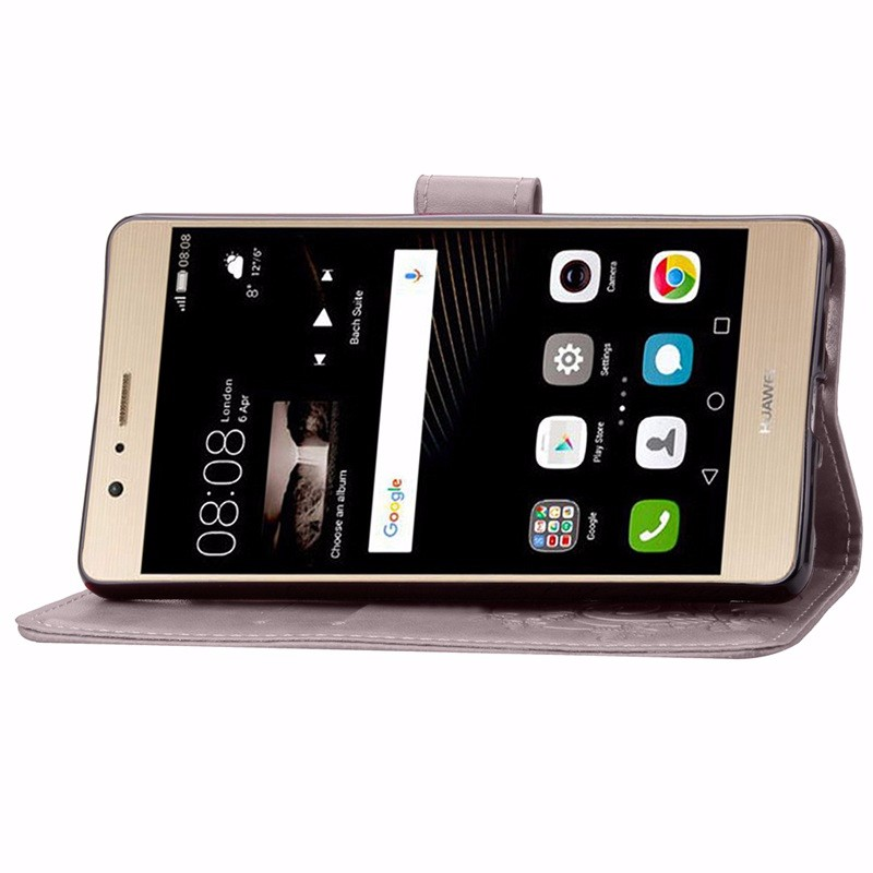 Cztery Liść Koniczyny Skrzynka dla Huawei P9 Okładka Huawei P9 Lite odwróć Wallet Case dla Huawei Hoesjes P9 Plus Telefon Coque PU skóra 4