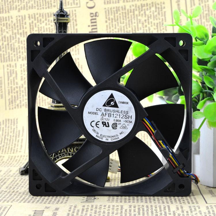 Delta fan AFB1212SH 12CM 120MM 1225 12025 12 * 12 * 2.5CM 120 * 120 * 25MM 12V 0.80A Cooling Fan Good Quality