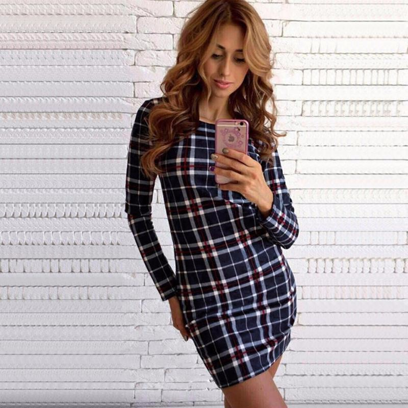 2017 dress kobiety nieregularne plaid shirt sukienki sexy długim rękawem turn down collar urząd casual dress lj5932c 18