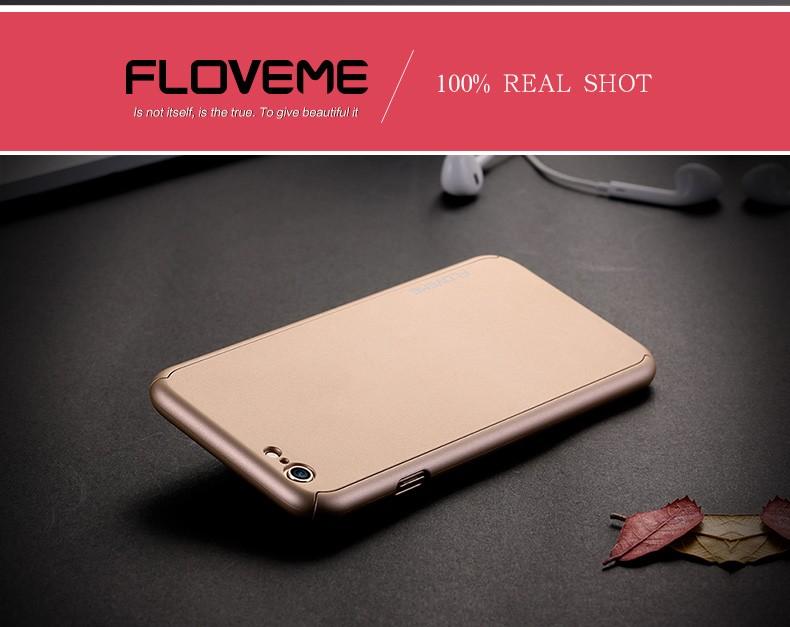 Floveme 6 s 7 plus armor screen protector 360 stopni case dla iphone 7 6 6 s dla iphone 6 6s 7 plus full chroń odporny na wstrząsy pokrywa 12