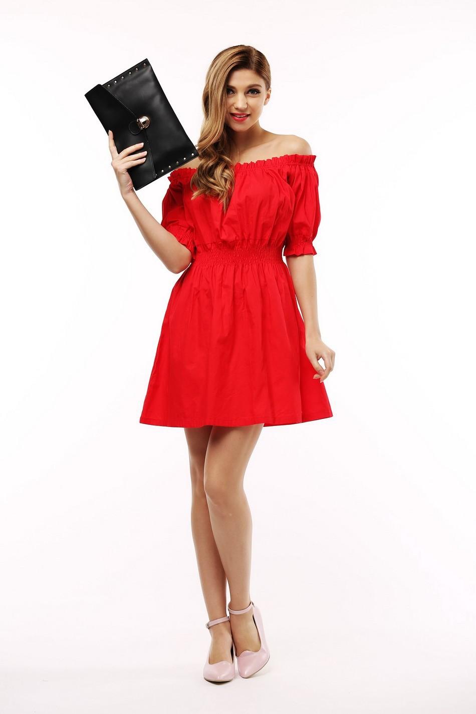 100% bawełna nowy 2017 jesień lato kobiety dress krótki rękaw casual sukienki plus size vestidos wc0380 4