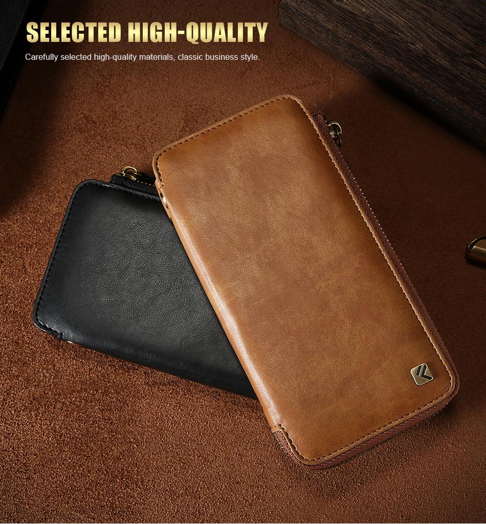 Floveme vintage wallet case dla iphone 6 6 s 7 plus skórzanej oprawie zipper torebka posiadacza karty retro przypadki telefonów dla iphone 6 6 s 7 2