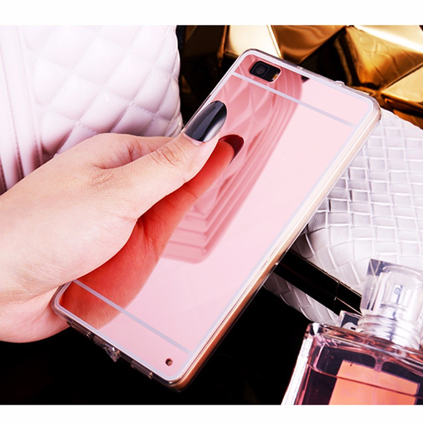 Hot! luksus lustro galwanizacja miękkie przezroczysty tpu case pokrywa dla huawei p8/p8 lite p9 p9 plus p9 lite g9 1