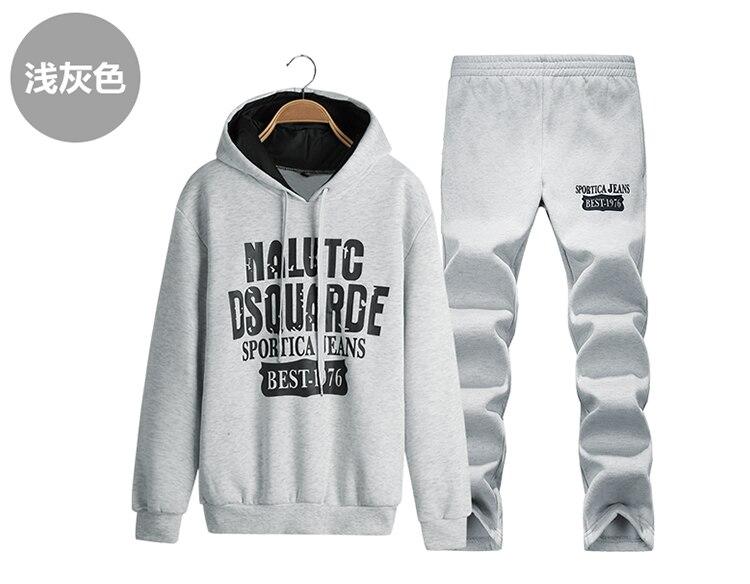 Jesień Z Kapturem 2017 Moda Pismo Drukowane Bluzy Męskie Bluzy Dorywczo Kombinezon Z Kapturem Bluza męska Sportowa Dresy Hip Hop 3