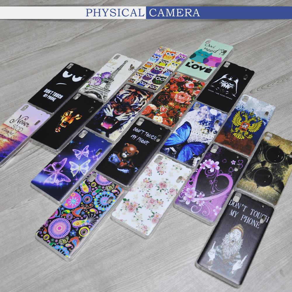 Colorfull miękki gel case pokrywa dla lenovo a1000 a5000 a2010 s60 s90 p1 p70 k3 k4 uwaga/vibe s1 p1m x3 lite moblie telefon hartowane 19
