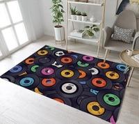 Funny Vinyl Records Rugs And Carpets For Kids Baby Home Living Room Non-slip Bedroom Hallway Yoga kitchen Door Floor Bath Mats