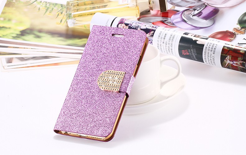 Dla iphone 6 6s plus 7 plus cover glitter bling kryształ diament skórzany portfel case do samsung galaxy s6 edge plus s7 edge torby 22