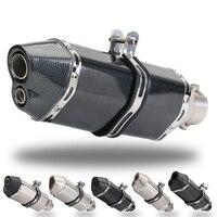 36-51mm האוניברסלי אופנוע פליטה שונה MufflerScooter בור אופני עפר מוטוקרוס עבור R6 ER6N CBR250R Z650 MT07 R25