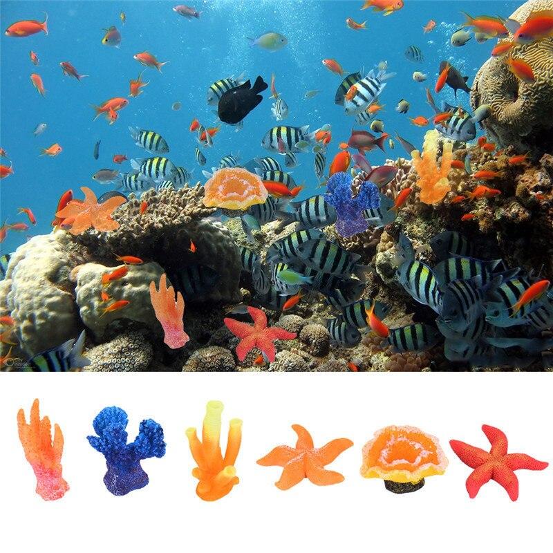 Perfect 1pcs Fish Aquarium Decorations Cute Artificial Coral Stars