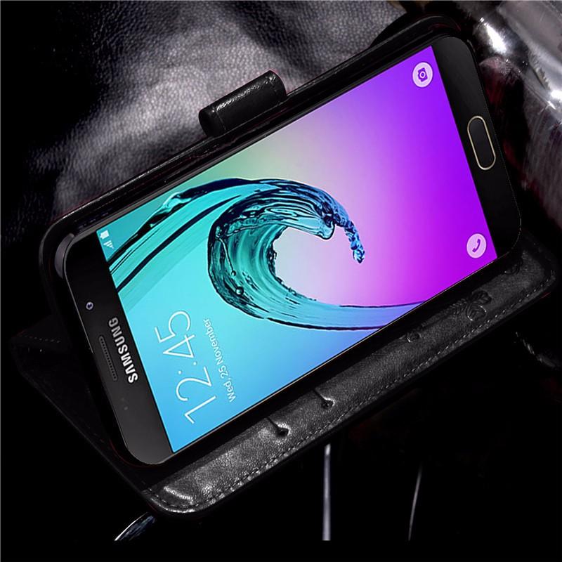 Dla iphone 7 plus 4S 5S 4 5 6 s skórzane etui z klapką case do samsung galaxy a3 a5 j3 j5 2016 j1 s6 s7 s3 s4 s5 mini grand prime pokrywa 51