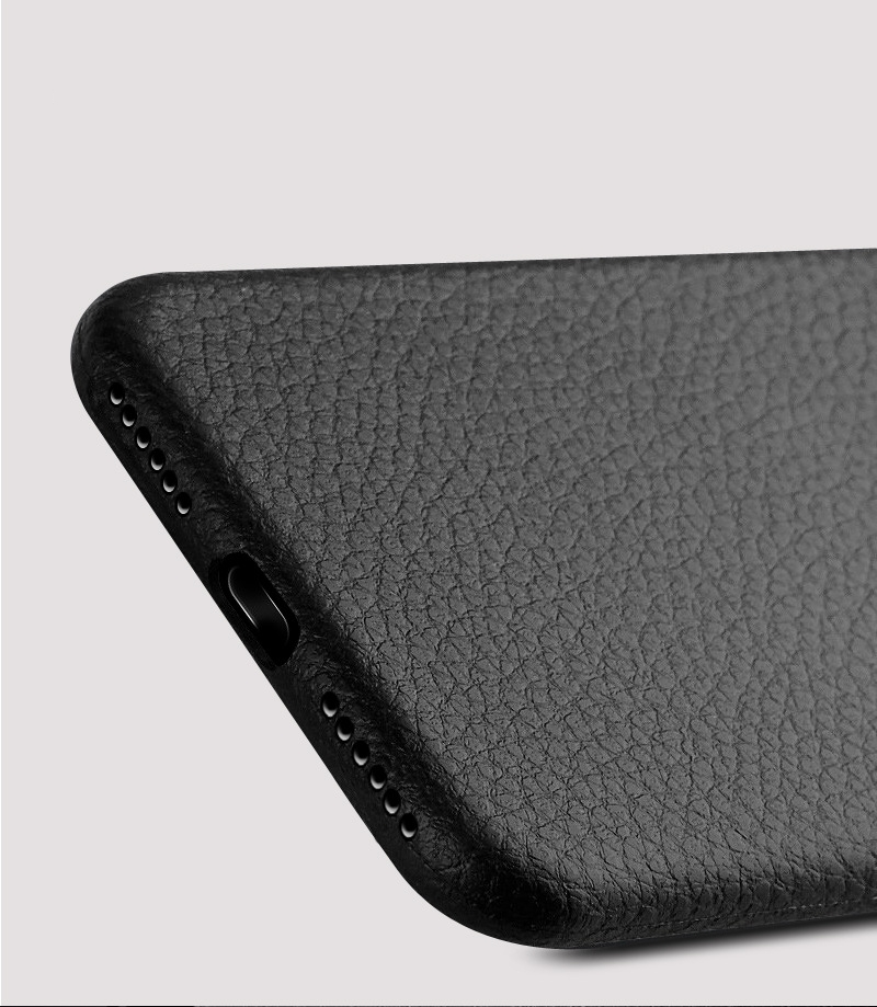 Dla iphone 7 plus iphone 7 case silicon ultracienkich tpu miękka skóra wzór case dla iphone 6 6s plus logo hole back cover czarny 14
