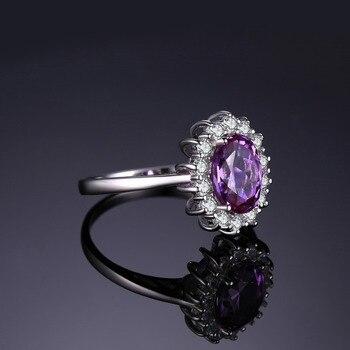 Princess Diana Wedding Ring.Princess Diana 3 22 Ct Created Alexandrite Sapphire Wedding Rings