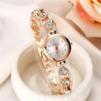 Ladies Elegant Wrist Watches Women Bracelet Rhinestones Analog Quartz Watch Women's Crystal Small Dial Watch Reloj Stylish