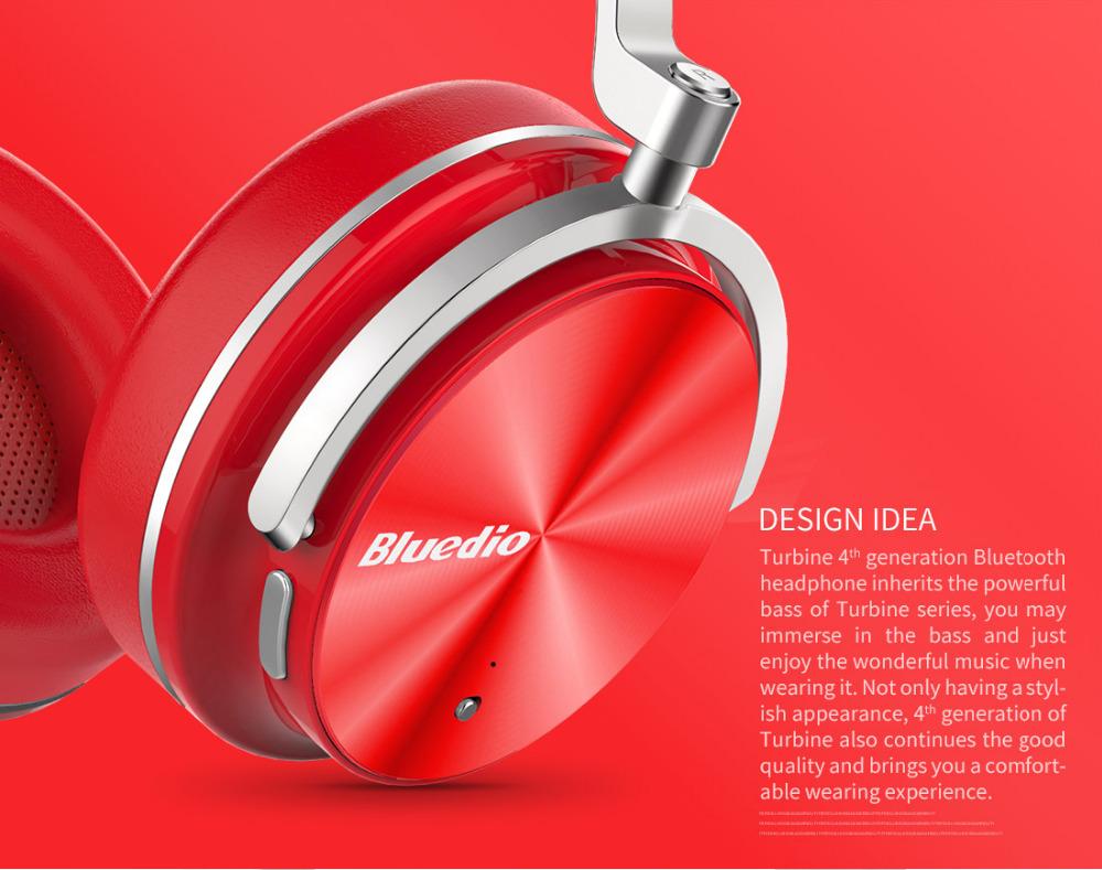 T4 bluedio aktywny hałasu anulowanie słuchawki bezprzewodowe bluetooth bezprzewodowy zestaw słuchawkowy z mikrofonem 2
