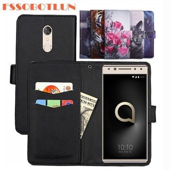 size 40 4de58 dada6 For Alcatel 5 5086D 5086Y Case PU Leather Retro Flip Cover Shell