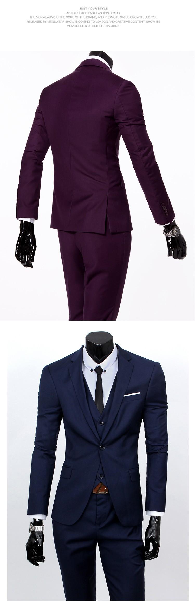 (Kurtka + kamizelka + spodnie) 2017 Nowa wiosna marka koszulka Męska slim fit Firm a trzyczęściowe Garnitury/Męskie dobrej groom dress/mężczyźni Blazers 19