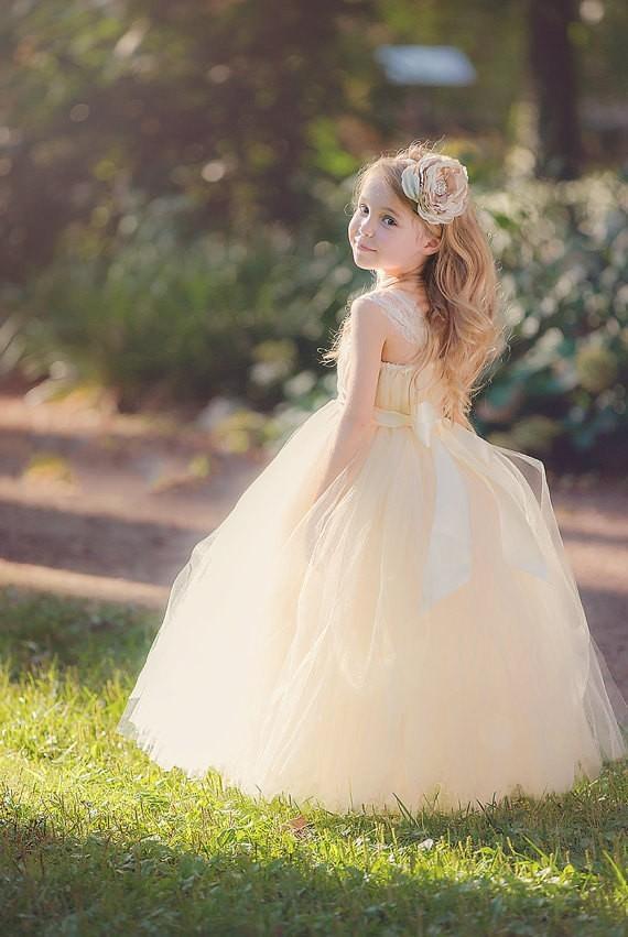 Sweetheart Strapless Tulle Flower Girl Dress 2