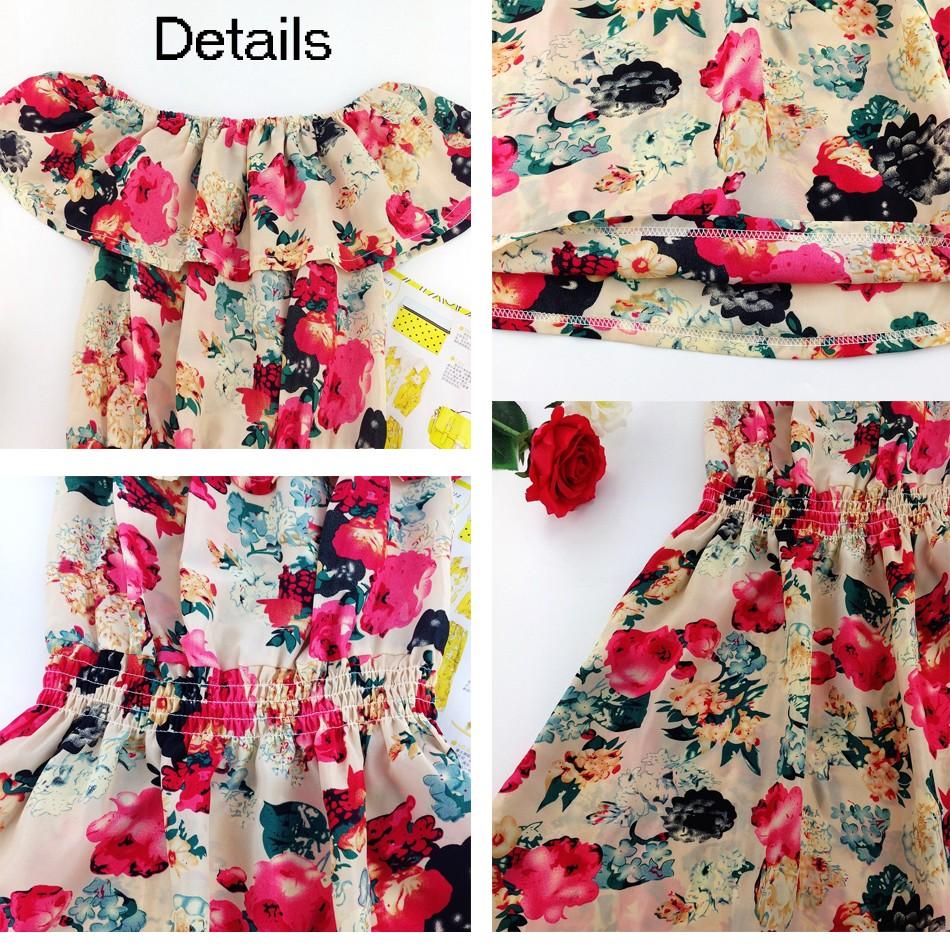 2017 fashion nowa wiosna lato plus size odzież kobiet floral print wzór sukienki na co dzień vestidos wc0472 20
