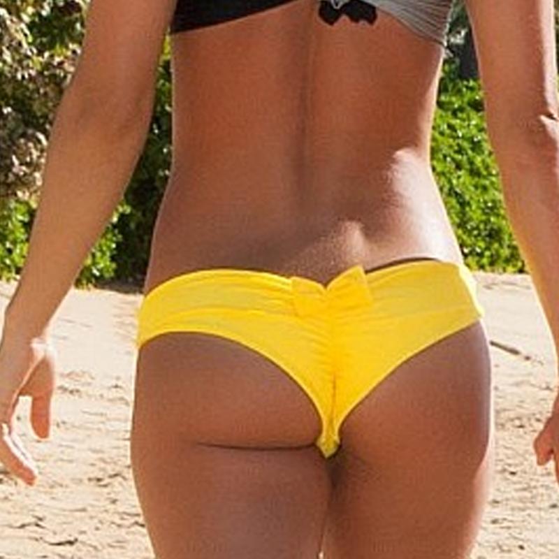 Czerwony Niebieski 2016 Sexy Women Bikini Pływać Pnie Łuk Czarne Krótkie lato Pływać Brazylijski Cheeky T-back Wycięte Stringi Dół Plaża Spodnie 4