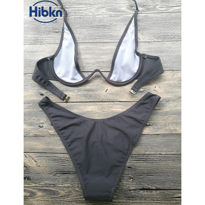 Bikini 2017 wysoka cut stringi stroje kąpielowe kobiety Brazylijski Biquini strój kąpielowy wysokiej talii strój kąpielowy Stałe pływać plaża micro bikini set 6