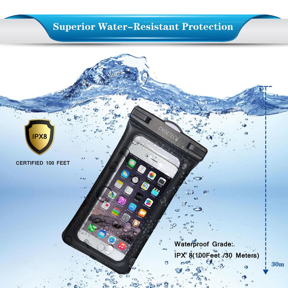 Choetech nadmuchiwane worki wodoodporne etui telefon komórkowy 30 m podwodne pralnia case pokrywa dla iphone 5 5s 6 6s plus/samsung/lg/xiaomi 10