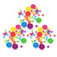 Pacote de 126 peças trivial perseguição peças de jogo torta cunhas peças aprendizagem matemática frações crianças brinquedo diy presente