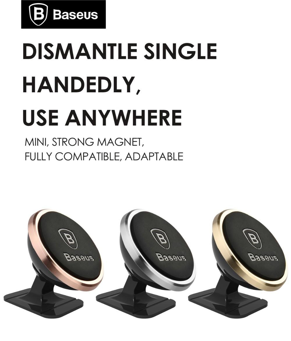 Oryginalny baseus uniwersalny magnetyczny obrót o 360 stopni uchwyt magnetyczny uchwyt samochodowy uchwyt telefonu dla iphone samsung smartphone gps 1