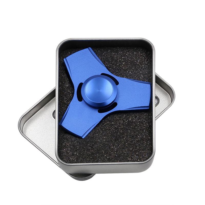 5 Kolory EDC Fidget UFO Tri-Cynku Ręcznie Spinner spinner Spinner Ze Stopu Aluminium Fidget Stres Zabawka Lęku Dorosłych Kid Metal Spinner 11