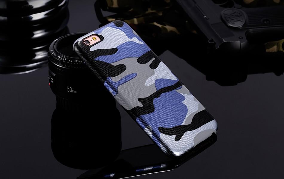 Dla iphone 7 5 5s se case wojskowy kamuflaż mężczyzn skórzane torby telefon sprawach dla iphone 7 7 plus pokrywa dla iphone 6 6s plus 5 5S se 11