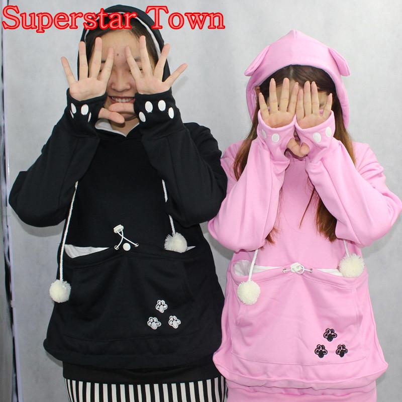 Cat lovers bluzy z cuddle etui dog pet bluzy dla kangura dorywczo swetry z uszy bluza 4xl drop shipping 2