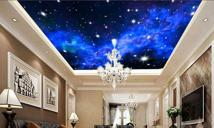 Niestandardowe zdjęcia tapety KTV 3D 5-gwiazdkowych Hoteli sen salon sypialnia sufit jasny sufit gwiazdy papier fototapetę malarstwo ścienne 7