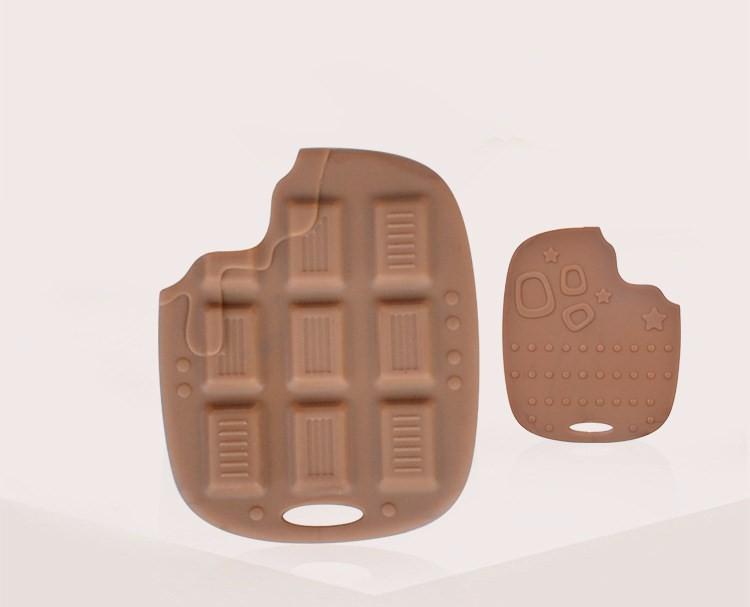 Dziecko Gryzak Silikonowy Jedzenie Czekolady Kształt Zabawki Dla Niemowląt Opieka Stomatologiczna Szczoteczka Szkolenia Dziecko Gryzak Silikonowy 1