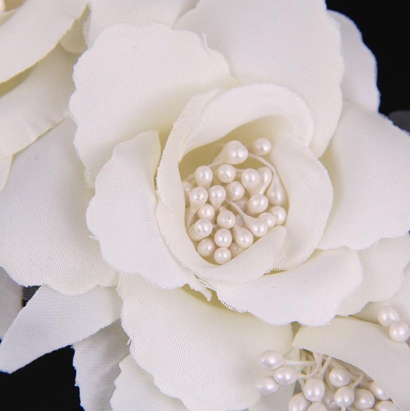 Elegant Bride Flower Pearl Wedding Charming Hair Clips 5