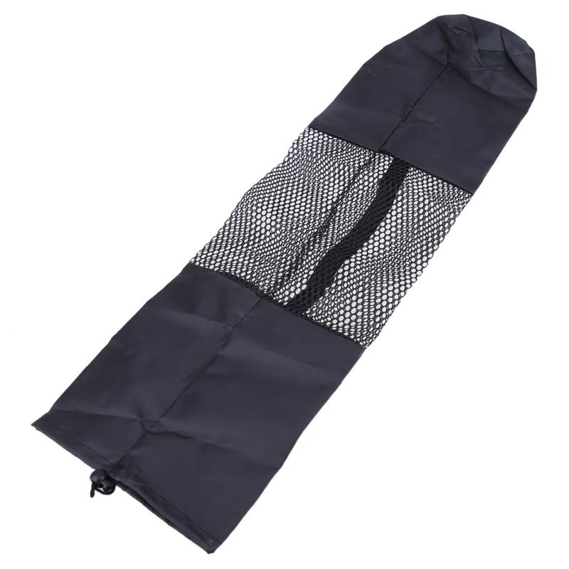 New arrival przenośne yoga mat pilates kobiety torba nośna czarny nylon torba z siatki centrum regulowany pasek torby yoga hot 3