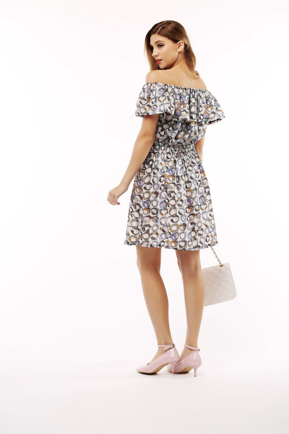 2017 fashion nowa wiosna lato plus size odzież kobiet floral print wzór sukienki na co dzień vestidos wc0472 10