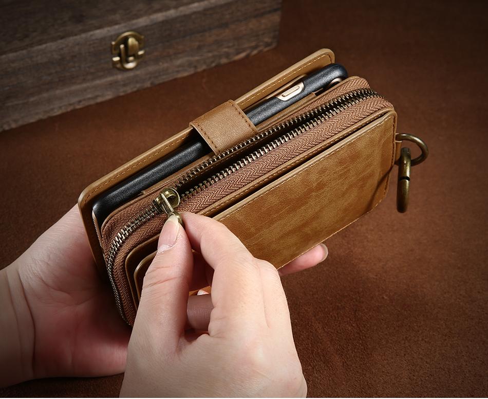 Floveme vintage leather wallet phone case for iphone 7 7 plus 6 6 s plus retro torebka slot kart pokrywa dla samsung s7 s8 coque 8