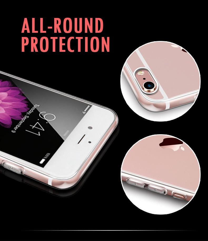 Esamday Ultra Thin Miękka TPU Gel Oryginalny Przezroczysty Case Dla iPhone 6 6 s 7 7 Plus 6 sPlus Crystal Clear Silicon Obejmują Przypadki Telefonów 7