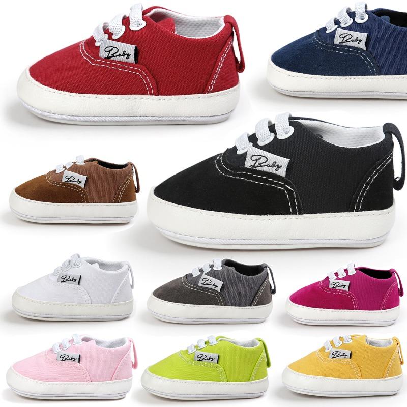 Wiosna Jesień Dziecko Noworodka Dziewczynka Chłopiec Miękkie Podeszwy antypoślizgowe Maluch Prewalker Niemowląt Sneaker Buty Na Co Dzień 2
