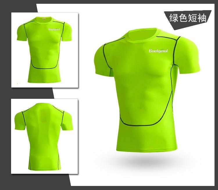 3 Sztuk Ubrania Męskie Kombinezony Sportowe Do Biegania Dla Mężczyzn Krótki kompresja Rajstopy Gym Fitness T Shirt Przycięte Spodnie Szybkie Pranie zestawy 6
