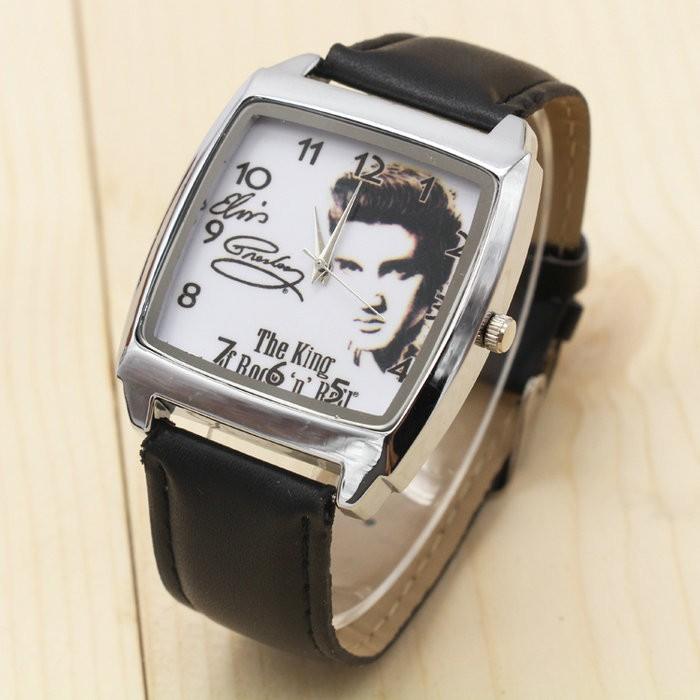 2017 w nowym stylu Mody Chłopcy i dziewczęta Elvis Presley pasek zegarka zegarek prezent 1