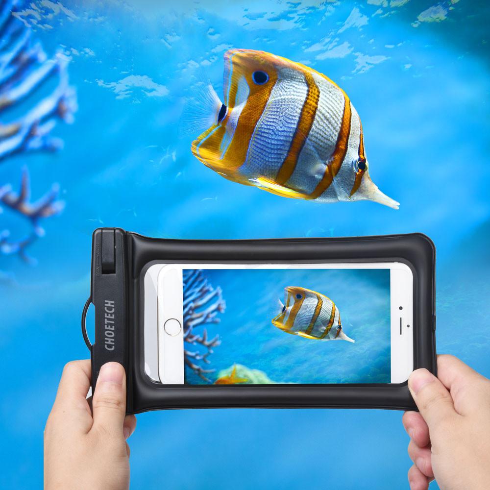 Choetech nadmuchiwane worki wodoodporne etui telefon komórkowy 30 m podwodne pralnia case pokrywa dla iphone 5 5s 6 6s plus/samsung/lg/xiaomi 14