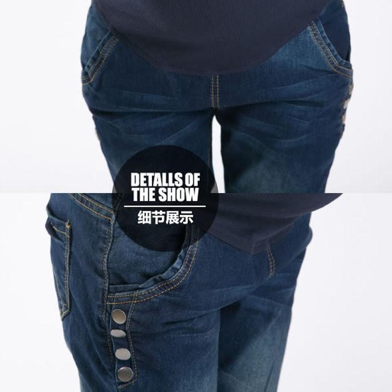 Spodnie Ciążowe jeansowe Spodnie Jeansowe Spodnie Dla Kobiet W Ciąży Ciąża Odzież Laktacja Ropa Para Embarazadas 2017 Ubrania Matki 5