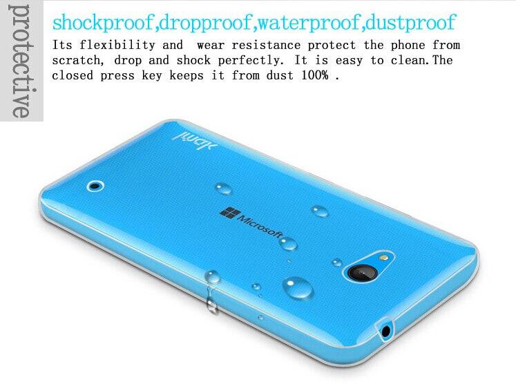 Dla microsoft lumia 535 532 435 640 640xl case cover, 0.6mm tpu case super slim miękkie back case etui na telefony 10