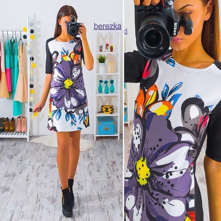 2017 kobiety dress vintage wydrukowano połowa rękawem slim sukienek vestidos panie mini luźne summer dress 3
