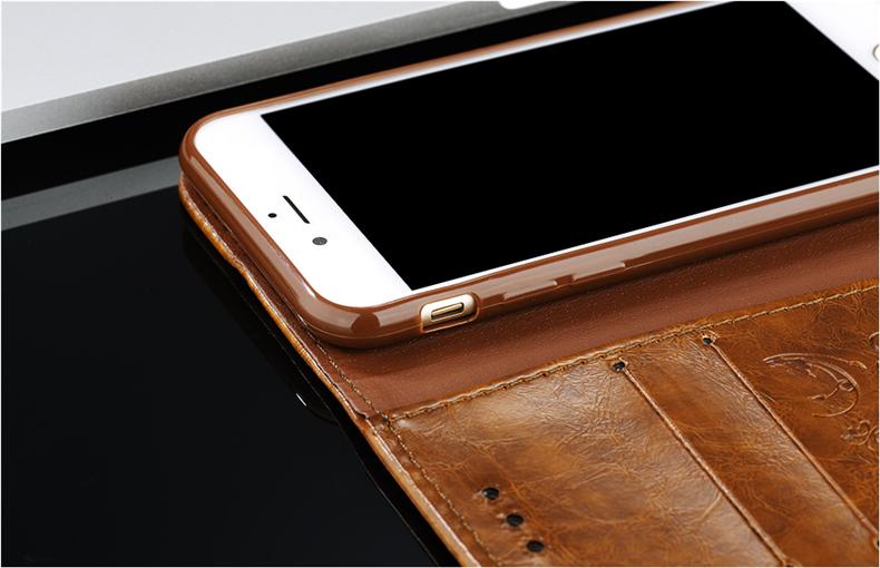 Skórzane etui z klapką telefon case for iphone 7 plus 6 s plus 5S 4S samsung galaxy S3 S4 S5 S6 S7 S8 Krawędzi Plus Uwaga 3 4 5 Karty Telefon torby 7