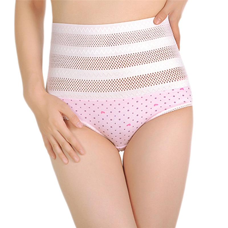 1pswomen's wysokiej talii majtki brzucha po porodzie matki bliscy underwear kontrola brzucha body shaper figi l-xxl nago/różowy 2